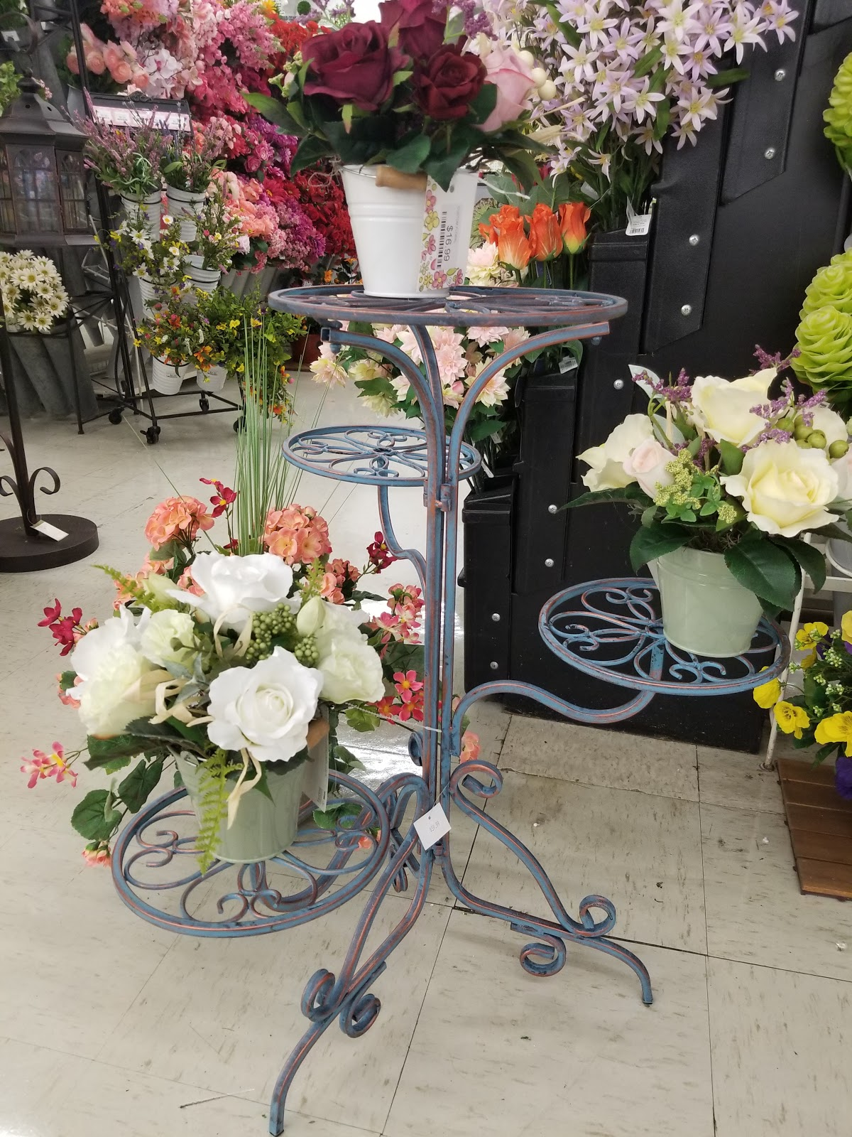 Artificial Flowers on Display In Store