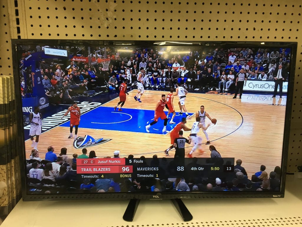 Flat-screen TV On Display In Store