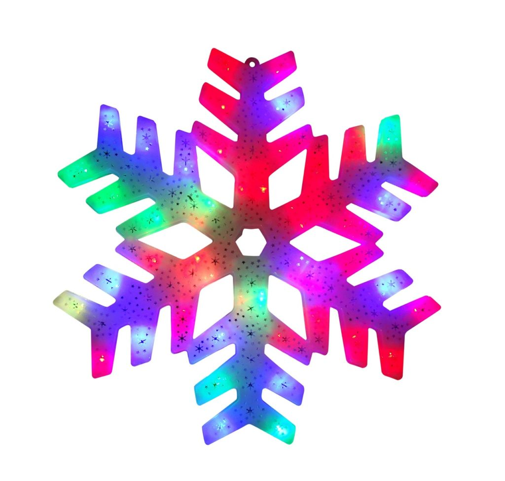Multi-Colored Lighted Snowflake