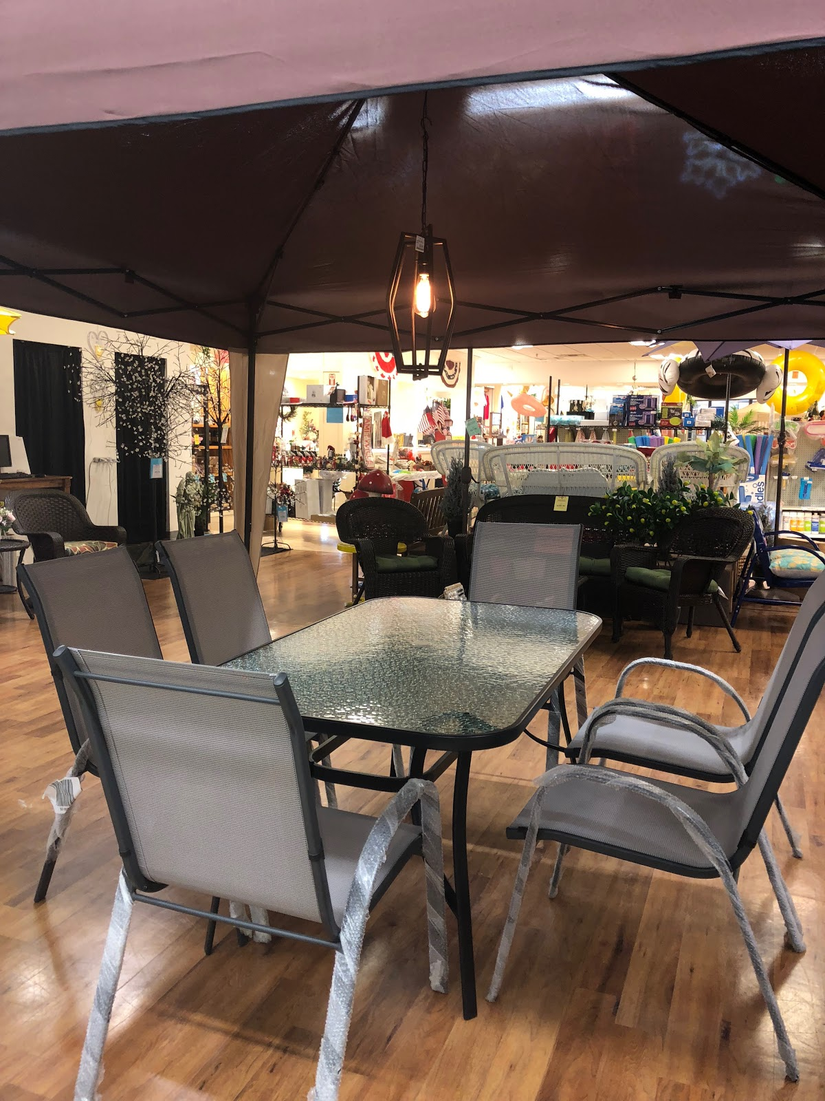 Outdoor Patio Furniture Set on Display