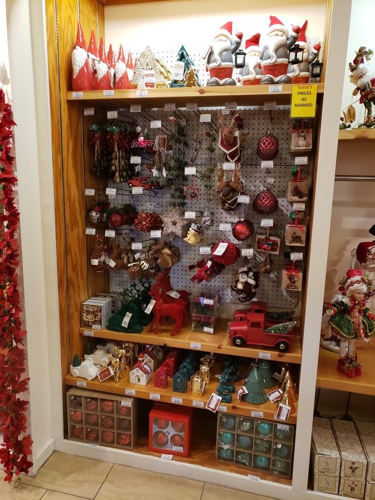Christmas Ornament Display at Dave's In Niagara Falls