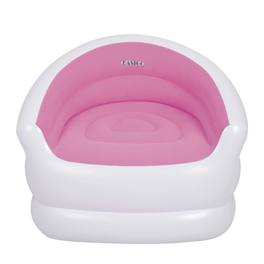 Pink & White Blowup Chair