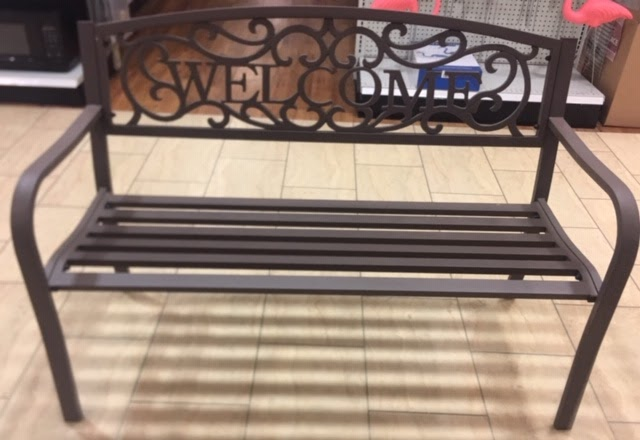 Outdoor Patio Bench on Display