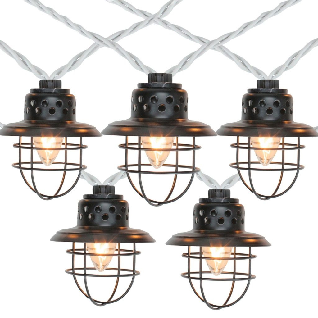 Outdoor Patio Lights - Stock Photo