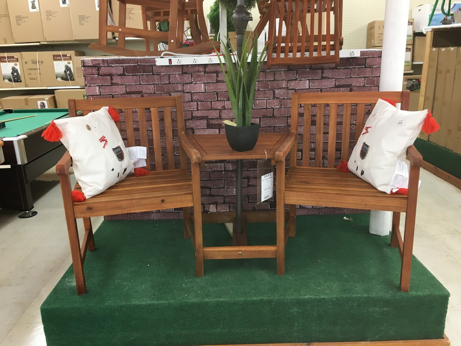 Patio Furniture On Display In Store