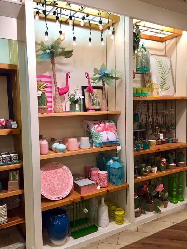 Spring Home Decor Shelf Display