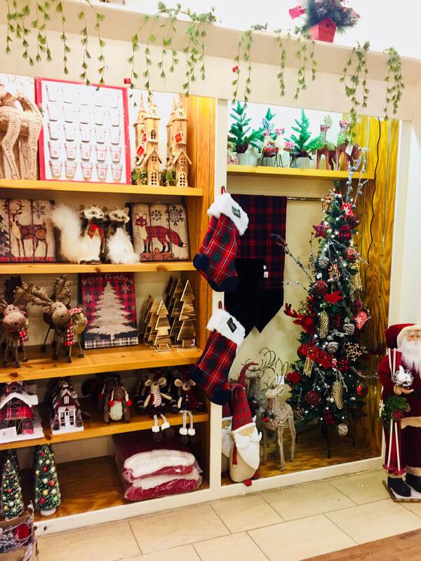 Christmas Decorations & Tree on Display